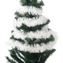 2 méteres fehér színű boa, karácsonyi dísz