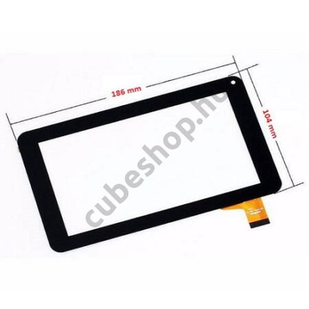 MyAudio Series7 708DR Tablethez érintő üveg, érintőpanel, érintőkijelző, érintőképernyő