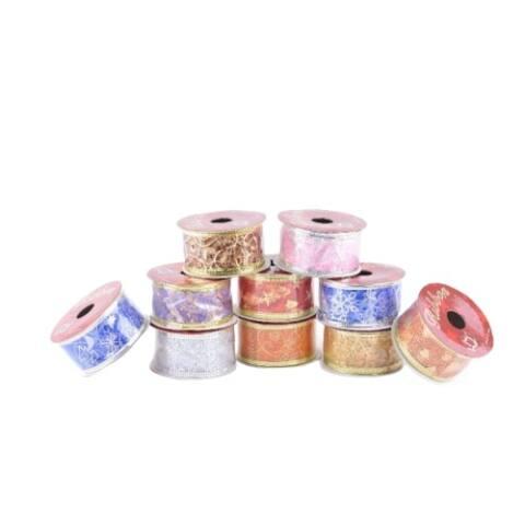 Díszszalag díszítéshez, csomagoláshoz többféle színben és mintával 1.