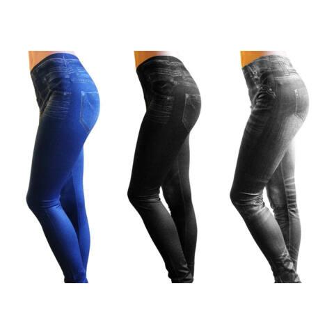 Slim Fit Jeans karcsúsító nadrág kék színben