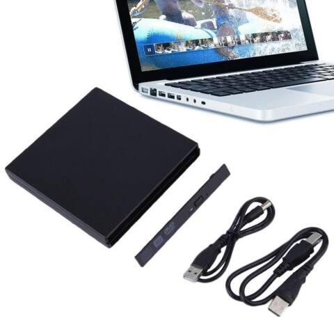 USB Külső Slim SATA CD/DVD író ház 12.5 mm, Notebookhoz