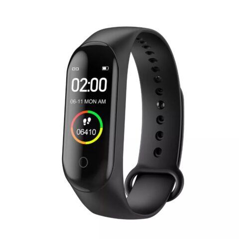 M4 Okoskarkötő - Fitness, sport monitor - vérnyomás, pulzus és véroxigén mérővel - Fekete