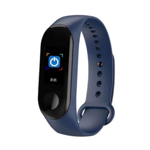 M4 Okoskarkötő - Fitness, sport monitor - vérnyomás, pulzus és véroxigén mérővel - Kék
