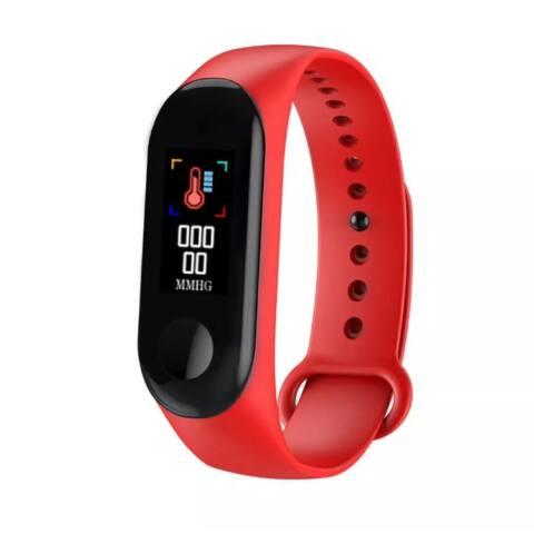 M4 Okoskarkötő - Fitness, sport monitor - vérnyomás, pulzus és véroxigén mérővel - Piros