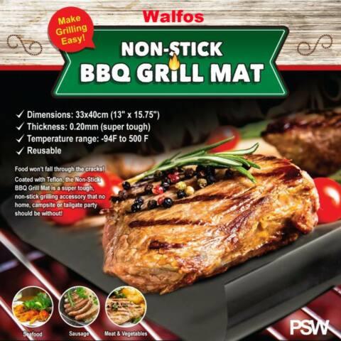 Újrafelhasználható tapadásmentes teflon BBQ grill sütőlap 40X33cm