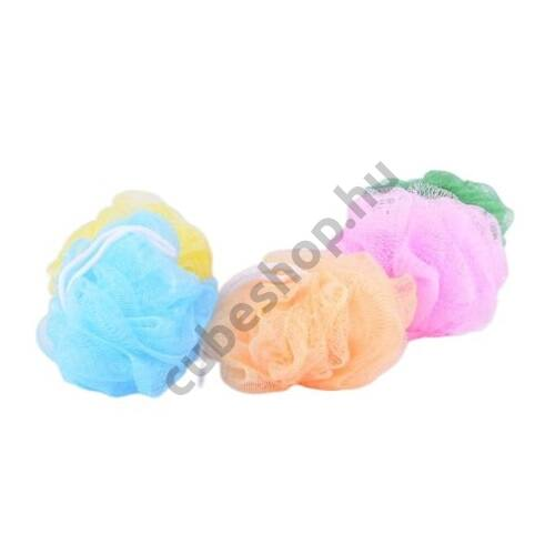 Fürdőpamacs több színben zuhanyzáshoz