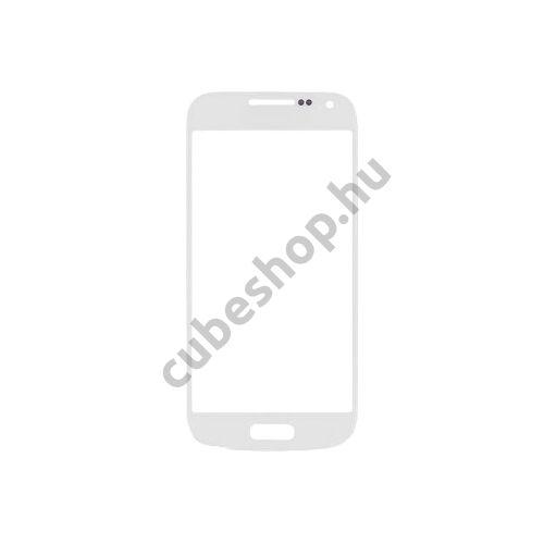 Samsung Galaxy S4 mini mobiltelefonhoz fehér érintőüveg