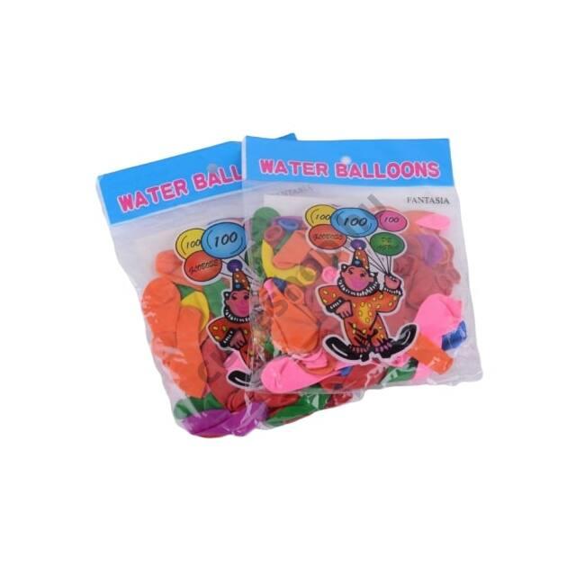 Több színű vízibomba lufi 80 darabos készletben