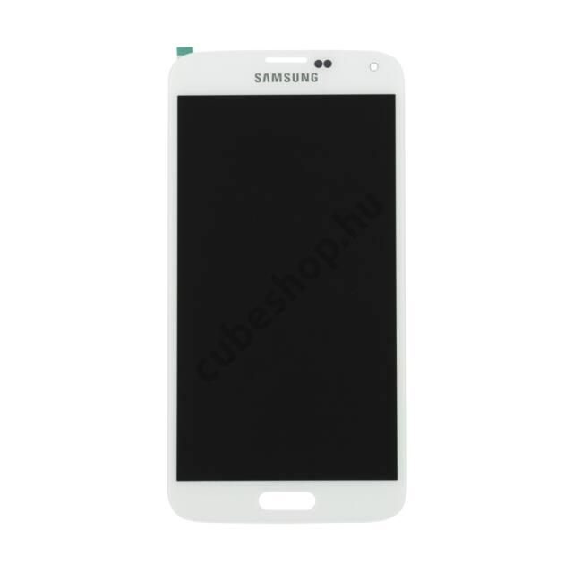 Samsung Galaxy S5 mobiltelefonhoz fehér érintőüveg