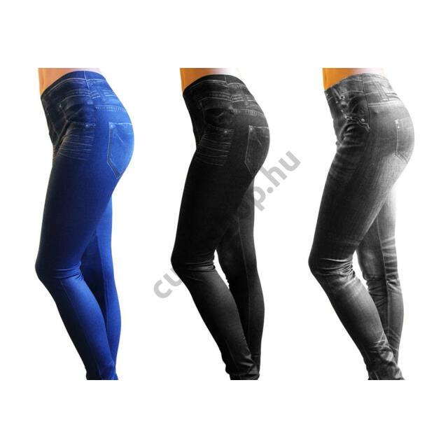 Slim Fit Jeans karcsúsító nadrág szürke színben