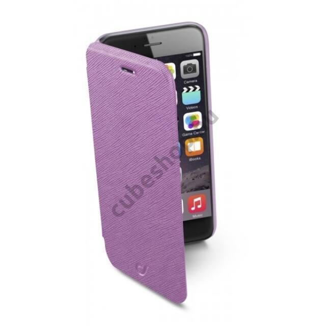 Cellularline tok, BOOK COLOR könyvszerűen nyitható tok, rózsaszín, iPhone 6