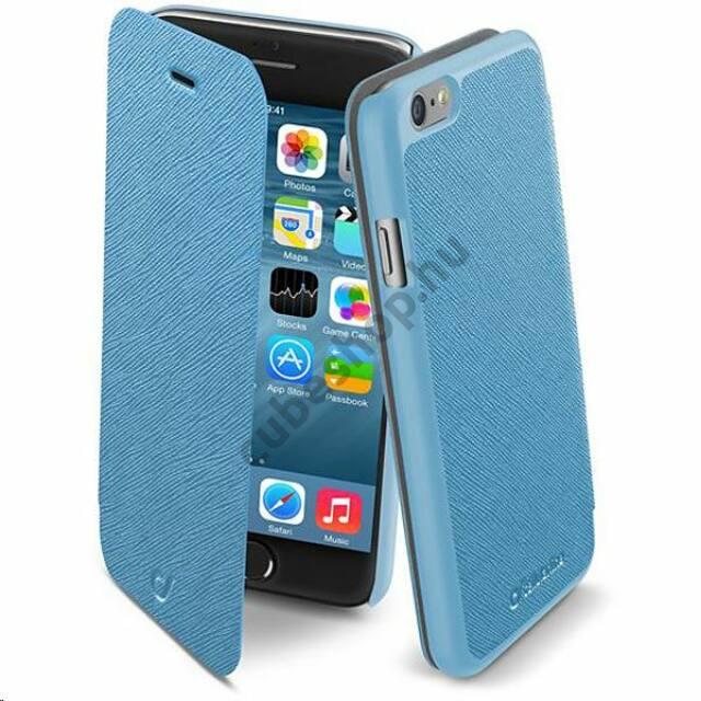 Cellularline tok, BOOK COLOR könyvszerűen nyitható tok, kék, iPhone 6