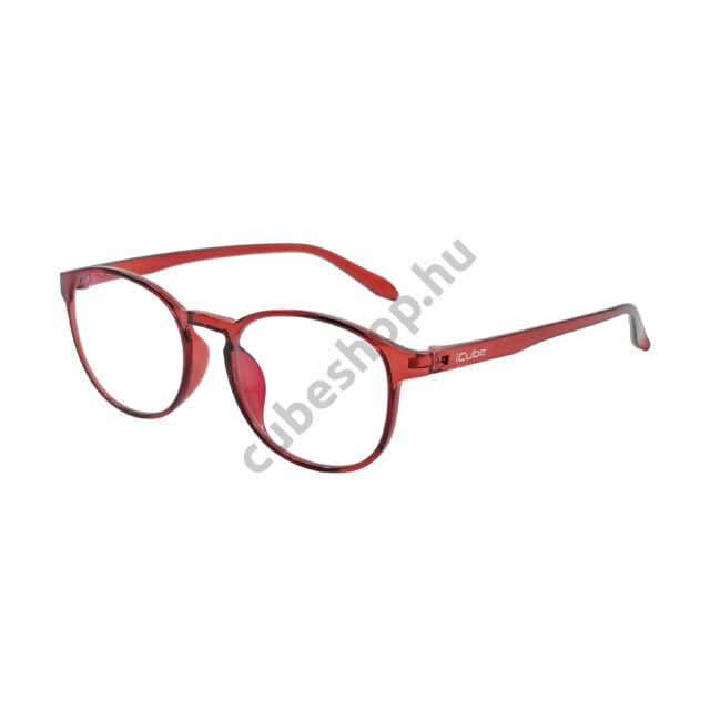 iCube Fride - Red - Kékfény szűrő Monitor szemüveg - Gamer szemüveg