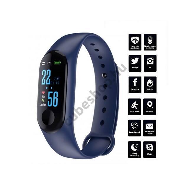 M3 Okoskarkötő vérnyomás, pulzus és véroxigén mérővel (Android, iOS)