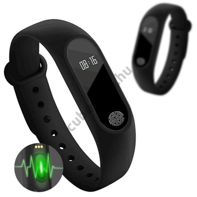 M2 Bluetooth okoskarkötő, pulzusmérő, aktivitásmérő IOS/Android