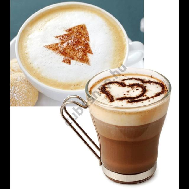 16 darabos Cappuccino díszítő sablon készletben